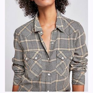 Free People Wyoming Winds Pearl snap western shirt